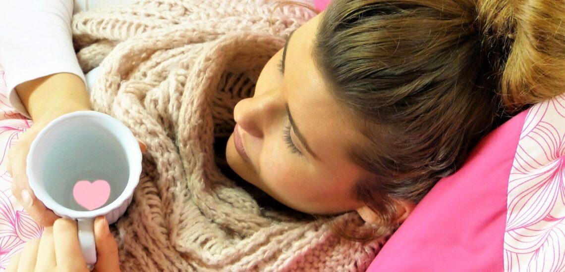 Časté bolesti hlavy a krku žena odpočinek