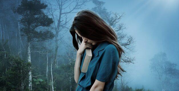 žena trpící depresí