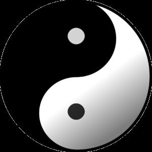 symbol jin jang paralela v partnerských vztazích muž a žena