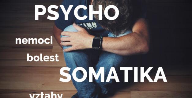 Psychosomatika – nešťastný muž, strach, nemoc, bolest, vztahy, stres