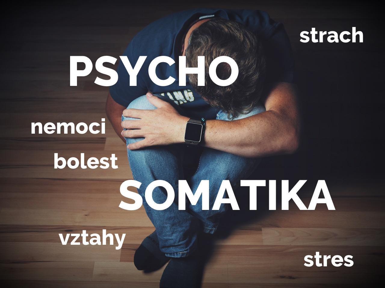 Psychosomatika - nešťastný muž, strach, nemoci, bolest, vztahy, stres